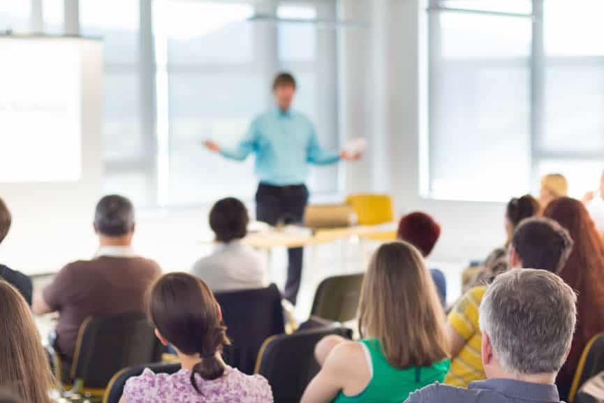 Vortrag halten - Rede halten