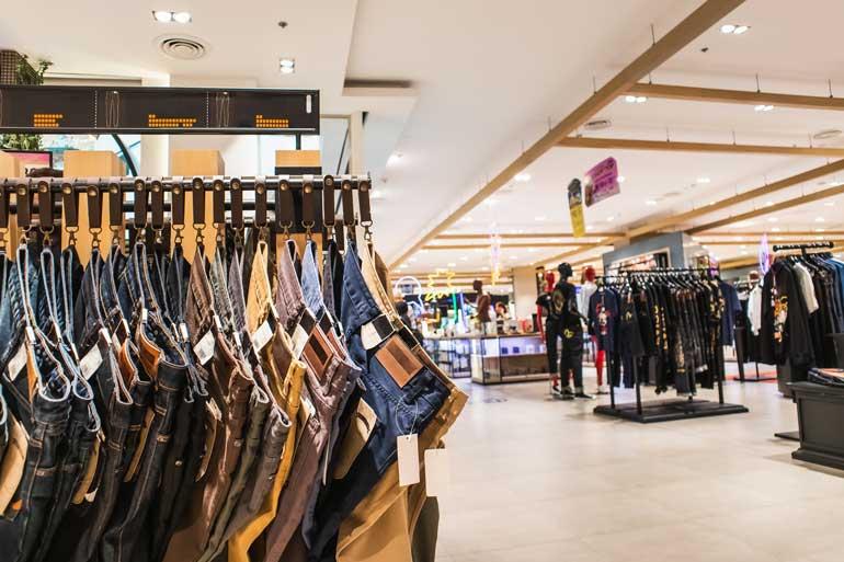 Einzelhandel, Jeans, Kleidung