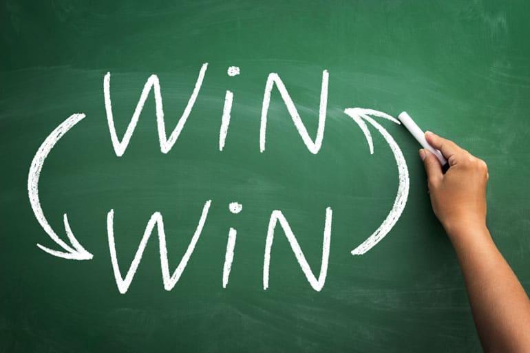 Win-Win, Tafel, Kreide